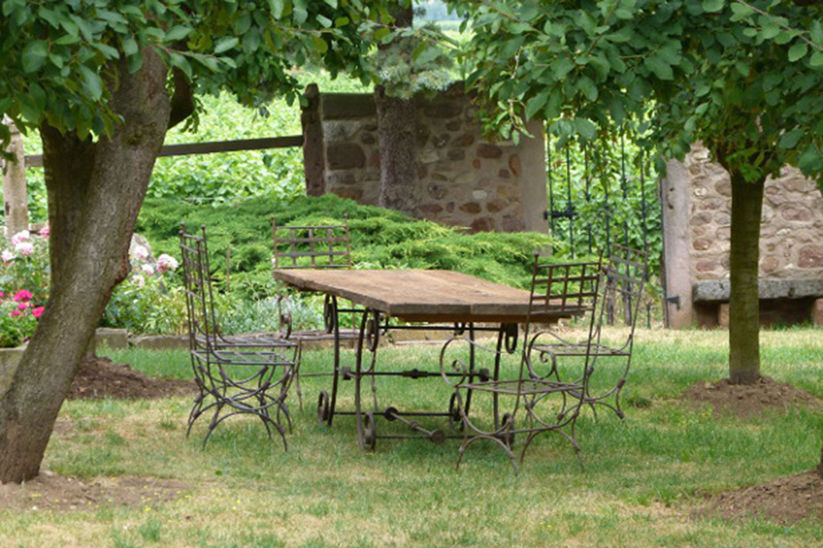 jardin gite Mittlewihr proche de colmar et riquewihr au coeur vigne alsace